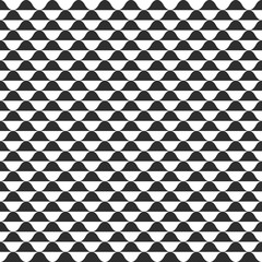 Wave vector seamless pattern, black and white curvy wavy background, abstract waves texture design