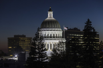 California State Capitol Dome at Night