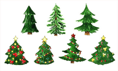 Fir tree for Chrismas set