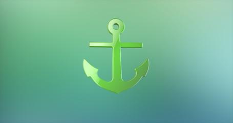 Sea Anchor Color 3d Icon