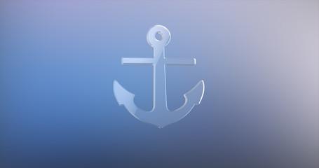 Sea Anchor Glass 3d Icon