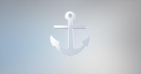 Sea Anchor White 3d Icon