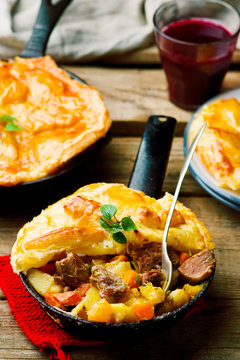 Rustic Beef Pot Pie .