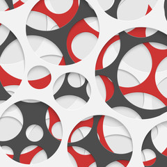 Abstract Circles Geometric Background. Vector Illustration.