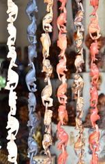 Famous monkey souvenirs at Ubud Market