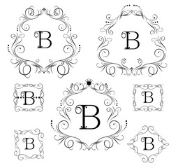 Collection of vintage frames for boutique, restaurant, cafe, hotel, jewelry and fashion