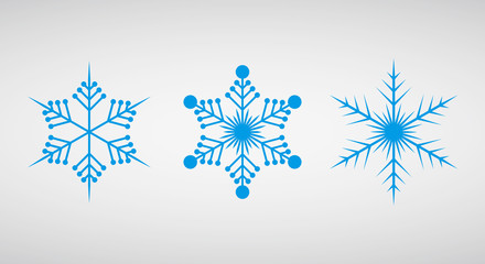 Set of icons snowflakes. Vector illustration.