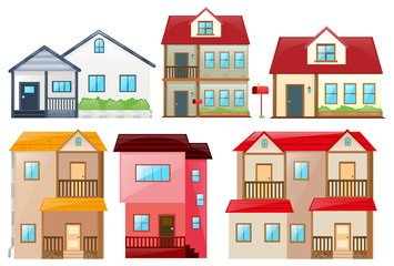 Different design of houses