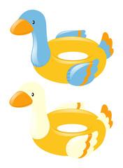 Swim rings shape of duck