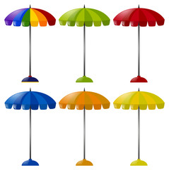 Umbrella in six different colors