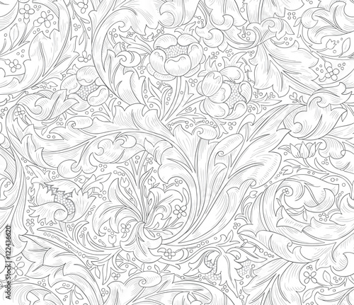 Modern Fabric Design Pattern. Desktop Wallpaper. Background. Floral Pattern  For Your Design.