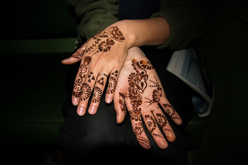 Hand painted with henna