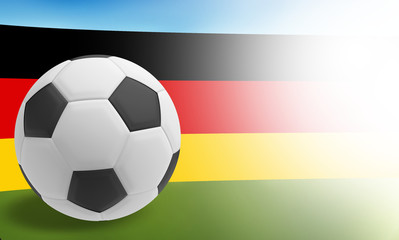 3d render soccer ball flag of germany