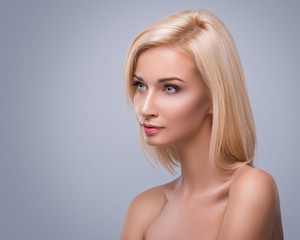 Young and pretty blonde woman