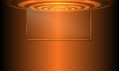 Vector abstract background with transparent circular objects and