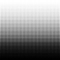 Vector halftone dots. Halftone gradient