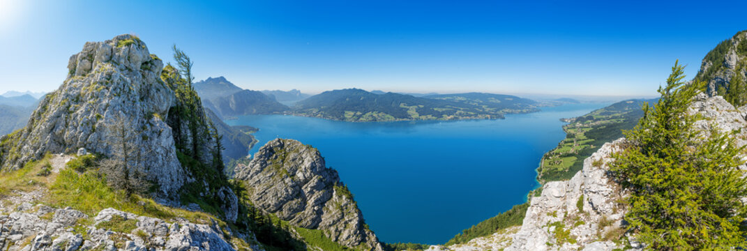 Fantastic view over the Attersee seen from Schoberstein, Upperau