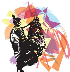 Flamenco woman dancer