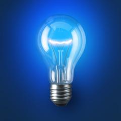 Lamp bulb. 3D illustration