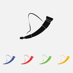 Viking Hunting horn. vector illustration Simple icon. Flat style