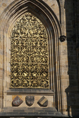 Golden window grate   St Vitus Cathedral