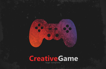 game logo design. joystick logo. Game pad design