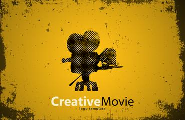 movie logo. Creative movie design. Camera logo. Studio logo