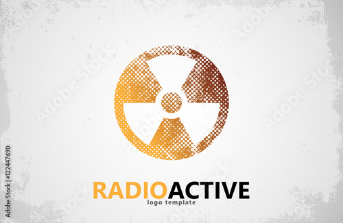 Nuclear Logo Radioactive Logo Design Radiation Symbol Stock Image