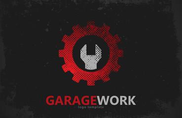 Auto repair. Garage work logo. Auto service