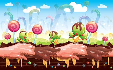 Candy And Cake Game Background