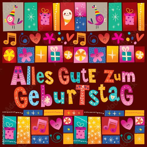 alles gute zum geburtstag deutsch german happy birthday design