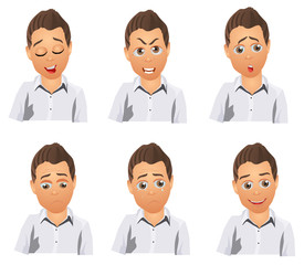 boy character emotions