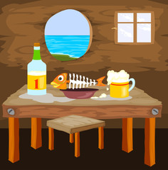 beer with fish