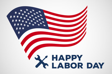labor day vector logo label