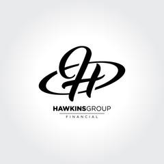 H Initial Symbol in circle