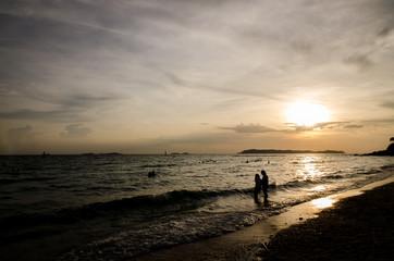 Sunset Island in Thailand