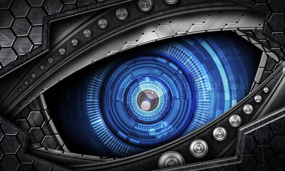 abstract robot eye background