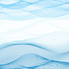 Background of blue-white ribbons intertwined illustration