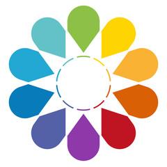 Arrows arranged in circle 10
