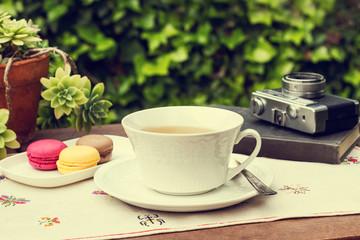 Taza de té al aire libre