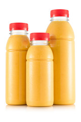 Multifruit smoothie in three size of bottle
