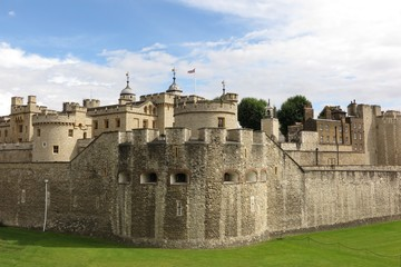 Tower of London, London, exterior sunny day