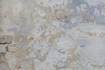 Fotobehang Oude vuile getextureerde muur Cracked plaster old wall texture background