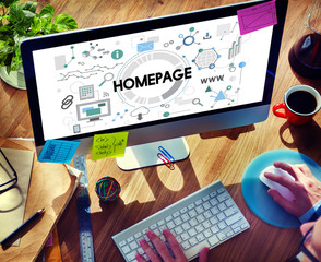 Homepage Website WWW Address Connection Concept