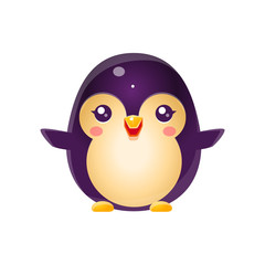 Penguin Baby Animal In Girly Sweet Style
