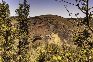 Big crater on the Big Island of Hawaii