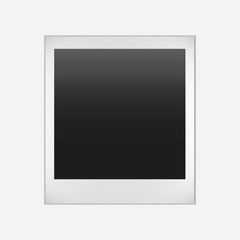 Vector Instant photo frame. Realistic paper photograph with shadow isolated on white background.