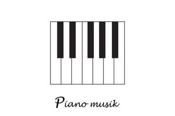 Music piano keyboard.