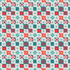 Patchwork. Ethnic seamless pattern