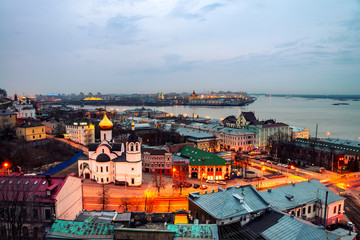 Nizhny Novgorod, Russia at night